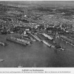 """Target for Tonight""; photographs of the Southampton Docks from a German invasion planning book."