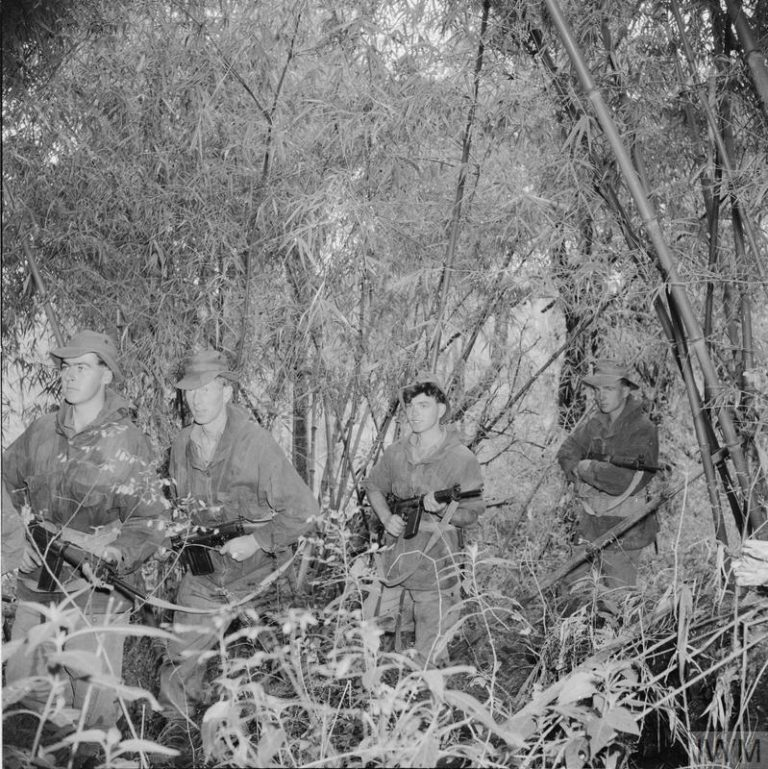 THE MAU MAU UPRISING, 1952 - 1960 (MAU 545) British Army soldiers in the jungle in Kenya during the Mau Mau uprising in 1952 or 1953. Copyright: © IWM. Original Source: http://www.iwm.org.uk/collections/item/object/205196638