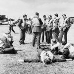 THE BATTLE OF BRITAIN (HU 1062) Spitfire pilots of No. 610 Squadron relaxing between sorties at 'A' Flight dispersal at Hawkinge, 29 July 1940. Copyright: © IWM. Original Source: http://www.iwm.org.uk/collections/item/object/205022145