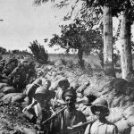 On This Day: 6th August 1915 Soldiers dug in at Chocolate Hill, Suvla Bay, Gallipoli