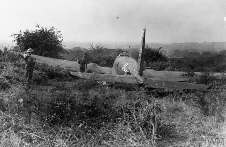 On This Day: 16 August 1940 THE BATTLE OF BRITAIN Heinkel shot down near Worthing
