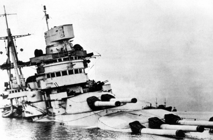 Taranto the sinking of the Italian fleet in World war Two