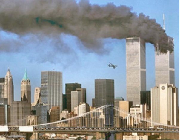 On This Day: 11th September 2001 Two passenger planes hijacked by Al Qaeda terrorists crash into New York's World Trade Towers causing the collapse of both and deaths of 2,606 people