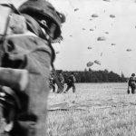18th September 1944 Arnhem (IWM FLM 1210) British paratroops landing in a field on the edge of a wood - Arnhem. Copyright: © IWM. Original Source: http://www.iwm.org.uk/collections/item/object/205131562