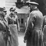 THE GERMAN-SOVIET INVASION OF POLAND, 1939 (HU 106371) General Wiktor Thommée, the Commander of the Modlin Fortress, negotiating the surrender terms with General Adolf Strauss, the Commander of the German II Corps, 29 September 1939. Copyright: © IWM. Original Source: http://www.iwm.org.uk/collections/item/object/205221938