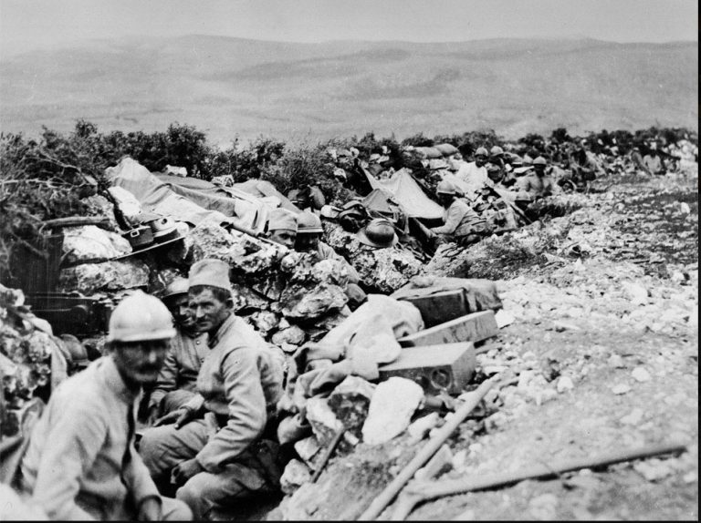 On This Day: 12th September 1916 Serbians on the Balkan Front, Serbian soldiers in a front line trench during the Battle of Kaymakchalan (12-30 September 1916) in Macedonia. During the latter engagement the Serbians attacked the peak of Prophet Ilia and pushed the Bulgarians back towards the town of Mariovo. Losses on both sides were high, with the Serbs sustaining around 10,000 casualties. NAM. 1999-10-8-3