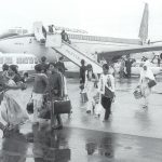 On This Day: 18th September 1972: Expelled Ugandans arrive in UK The first Ugandan refugees fleeing the persecution of the country's military dictatorship have arrived in Britain. The 55,000-strong Asian community were ordered in August to leave the country within 90 days by President Idi Amin.