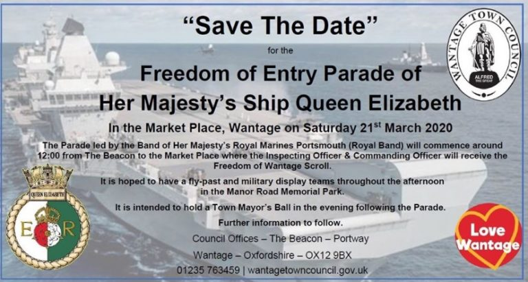 HMSQE Wantage Freedom of Entry Parade