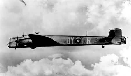 Whitley V, N1380 'DY-R', of No. 102 Squadron RAF