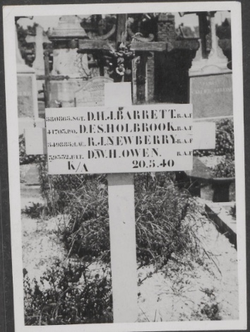 The graves of the airmen of R for Roger