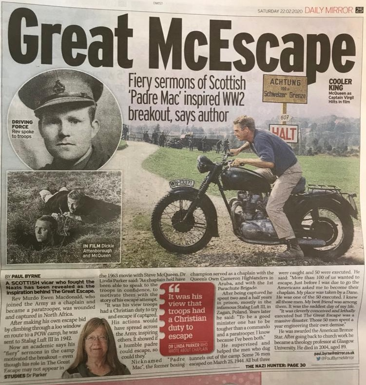 Linda Daily Mirror Great Escape