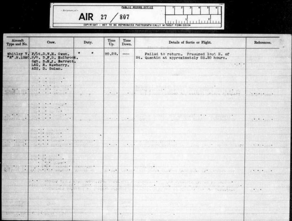 Whitley ORB 102 Squadron