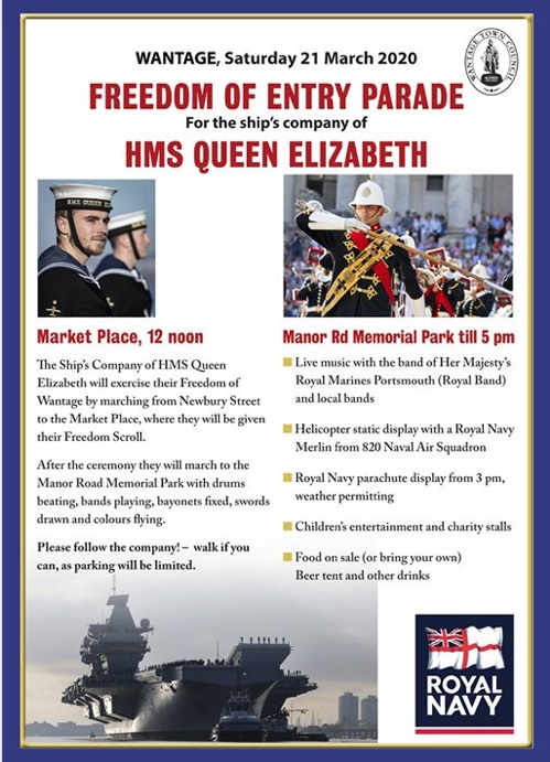HMS Queen Elizabeth Freedom of Entry Parade Wantage