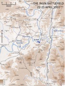 Imjin River battlefield map