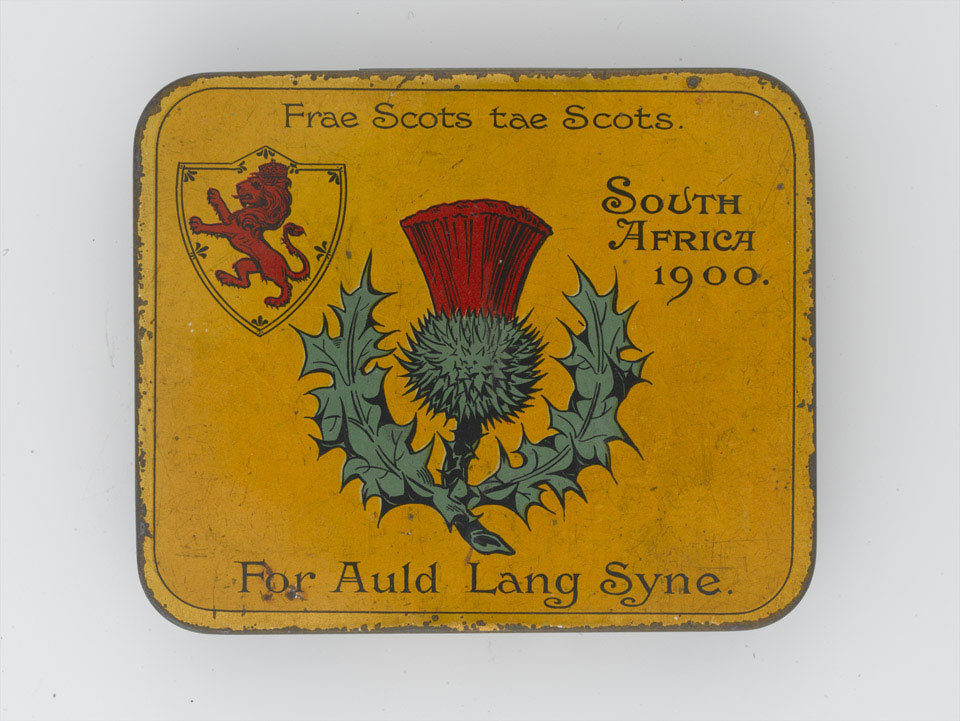 Tobacco tin, 'Frae Scots tae Scots', 1900
