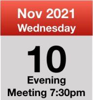 Meeting 10th Nov 2021