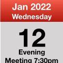 Meeting 12th Jan 2022
