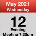 Meeting 12th May 2021