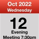 Meeting 12th Oct 2022