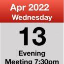 Meeting 13th April 2022