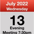 Meeting 13th July 2022