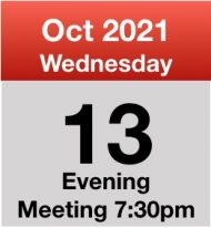 Meeting 13th Oct 2021