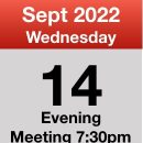 Meeting 14th Sept 2022