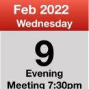Meeting 9th Feb 2022