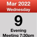 Meeting 9th March 2022