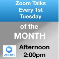 Zoom Talks Every First Tuesday